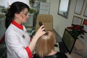 Анализ волос у трихолога