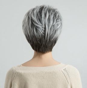Система замещения Full cap с имитацией кожи легкая волна короткая
